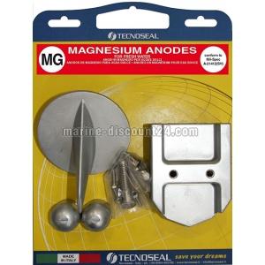Anoden Satz Magnesium für Mercruiser R, MR, Alpha One bis 1990