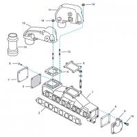 Abgas-Ersatzteile für GM 160 - 165 - 200CID - 250 - 292CID, 6 Zyl. Reihe