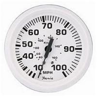 Faria-Dress White Geschwindigkeitsanzeige ,55 Kmh
