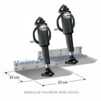 Lenco 15000 elektrisches Trimmklappensystem 23 x 23