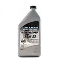 Quicksilver 25W40 Synthetic Blend 4-Takter Marine Motoröl, 1 Liter, 8M0086226